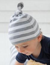 Baby Stripy One Knot Hat